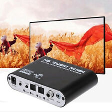 Black Audio 5.1CH AC3 DTS HD Digital Sound Decoder Optical SPDIF Coaxial to 6RCA