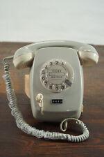 70er Vintage Post Telefon Wählscheibentelefon Schnurtelefon Retro grau 60er 2