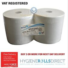 2ply White Paper Industrial Forecourt Rolls 1800 Sheet 350m x 280mm x 2 Rolls