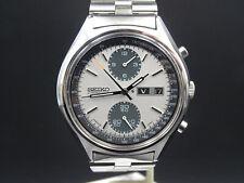 "X203 ⭐⭐Vintage "" Seiko Panda "" Chronograph Automatic Wrist Watch 6138-8020 Top"