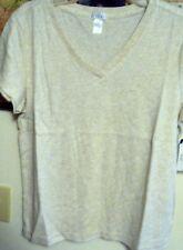 Jockey Women's  V-Neck $26 Sleepwear Oatmeal Top - L(38-40)