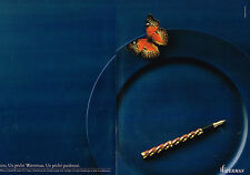 PUBLICITE ADVERTISING 124  1987  WATERMAN  stylo plume LADY PATRICIA ( 2p)