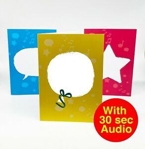 DIY Recordable Voice Talkie Cards - 30 second Audio