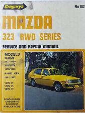 Gregorys SP No 182 Mazda 323 RWD Series 1981 – 1985 Service & Repair Manuall
