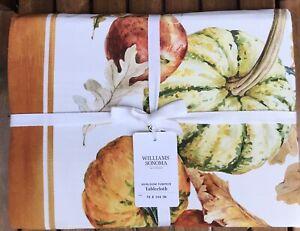 "William Sonoma  Tablecloth, Size 70"" X 144"", New W/ $179.95"
