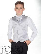 Boys Waistcoat Suit, Boys Wedding Suits, Page Boy Suits, Black Trousers