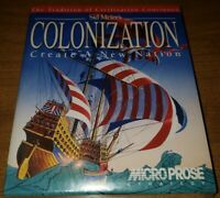 "NEW Factory Sealed Sid Meier's COLONIZATION IBM/PC/DOS Microprose Game 3.5"" disk"