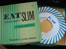 EAT SLIM YOUR WAY 1967 Leister Game Co 4 Plates Gag Joke Diet