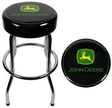 Genial John Deere Garage Stool Shop Chair Padded Plasticolor Chrome Bar Seat  Durable