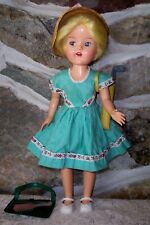 "vintage Pma hard Plastic Molded Arts 15"" walker doll"