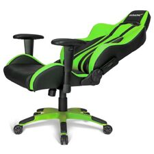 AK Racing Premium Plus V2 Green/ Black Padded PC Pro Gaming Chair E Sports