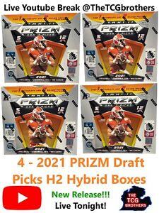 New England Patriots Break 456 PRIZM Draft Picks H2 Hybrid Box 2021 Football