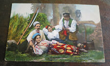 Postcard Eastern European Ukraine Type Family camp Farm