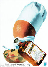 PUBLICITE ADVERTISING 115  1961  la liqueur COINTREAU pour salade de fruits