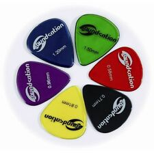 72 plettri pick Soundsation misura 0.96 clear nylon vari colori SPT-600-0,96