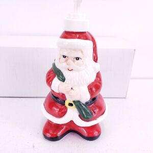 """Ceramic Santa Clause Hand Soap Dispenser  Christmas Holiday Decor by Allure 7.5"""""""
