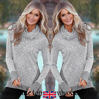 Autumn Winter Womens Ladies Long Sleeve Tops Jumper Ladies Pullover Blouse Shirt