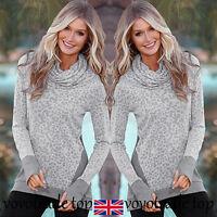 UK Autumn Winter Womens Long Sleeve Tops Jumper Ladies Pullover Blouse Shirt New