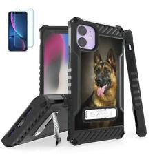 German Shepherd Hybrid Shockproof Case Cover+Tempered Glass for iPhone Models