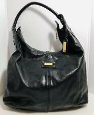 Badgley Mischka Hobo Black Leather Large Shoulder Bag