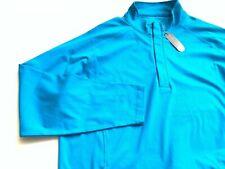 Peter Millar Mens Crown Sport Wind Half Zip Teal Pullover Golf Jacket XL