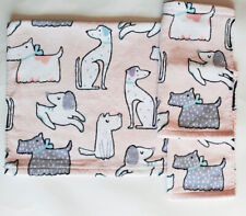 Artisan NY set of 3- 1 Hand Towel  2 Washcloth Velour Cotton DOGS