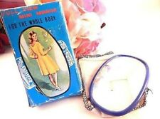 Mirror Full View Mini Mirror Vintage 1960s Compact Purse Accessory Gift for Her