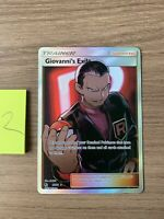 Pokemon Hideen Fates Giovannis Exile Pack Fresh NM/M 67/68