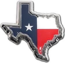 Texas Flag State Shape Metal Auto Emblem: NEW United States Chrome Car Decal MVP