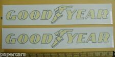 PAIR Goodyear tires Contingency NASCAR Shop Stock Car Drag Racing Sticker Decals