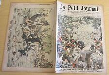 Le petit journal 1906 818 roi sisowath au pré-catelan pontonniers accident isère
