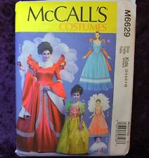 McCall's 6629 Fairytale Princess Gown 5 looks Costume Sewing Pattern Kids 3-8