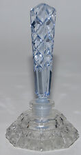 Vintage Czech Perfume/Scent Bottle~Dauber Intact~Rare Blue Stopper~Signed~Mint