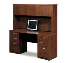 BESTAR Embassy Credenza And Hutch Kit In Tuscany Brown   Ber6085163
