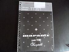 Original Service Manual Marantz TT351