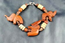 Vintage Wooden Elephant Bracelet