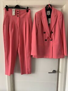River Island Pink Trouser Suit Size 10 Rrp £103