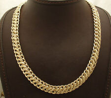 "18"" Technibond Hammered Double Curb Chain Necklace 14K Yellow Gold Clad Silver"
