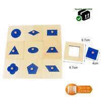 Formes géométriques en bois à encastrer - Activité Montessori 10 pièces Puzzle