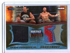 TNA Chavo Guerrero & Hernandez 2013 Impact LIVE GOLD Dual Relic Card SN 33 of 50