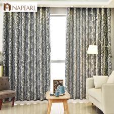 NAPEARL 1 Panel Window Shading Jacquard Semi-blackout Curtain Grommet top Drapes