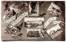 cpa. 25 . Doubs . carte postale . souvenir du Pensionnat d'ECOLE. gare . rare!