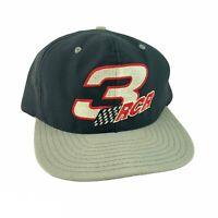 Vintage AJD Dale Earnhardt Sr. #3 RCR Black NASCAR Racing Snapback Hat USA Made