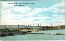 NEW GLASGOW, NS  Canada  NOVA SCOTIA STEEL & COAL  1924  Postcard