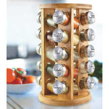 Orii 20 Jar Bamboo Rotating Spice Rack