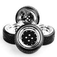 4PCS Drift Tires&Wheel 12mm Hex Tire set For HPI HSP RC 1:10 On-Road Racing Car