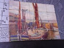 Vintage wooden child's double sided picture blocks, jigsaw, 20 blocks