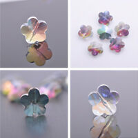 10pcs 14mm Flower Faceted Crystal Glass Loose Spacer Beads DIY Jewelry Making