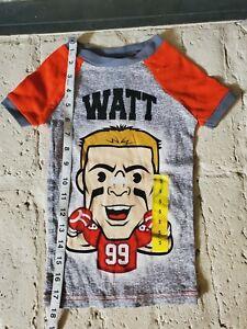 NFLPA Toddler JJ WATT shirt size 5 NFL Texans