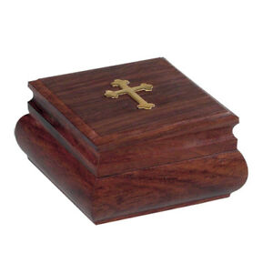 Orthodox Wood Box Christian Wooden Handcarved Handmade With Brass Cross 297